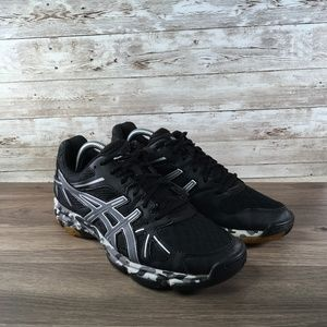 Asics GEL-Flashpoint Black/Silver Womens Sneakers